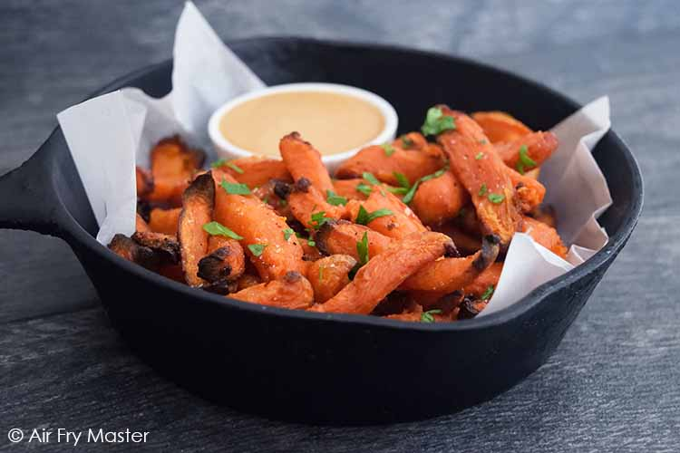 The finished Air Fryer Sweet Potato Fries.