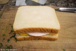 The closed sandwich.